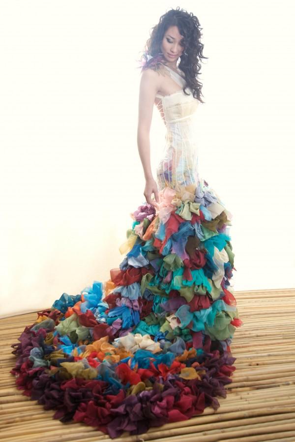 Watercolor Wedding Dress Wai Ching Studio