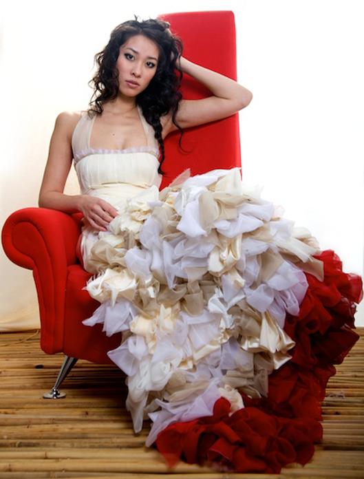 Red Silk Bridesmaid Dress